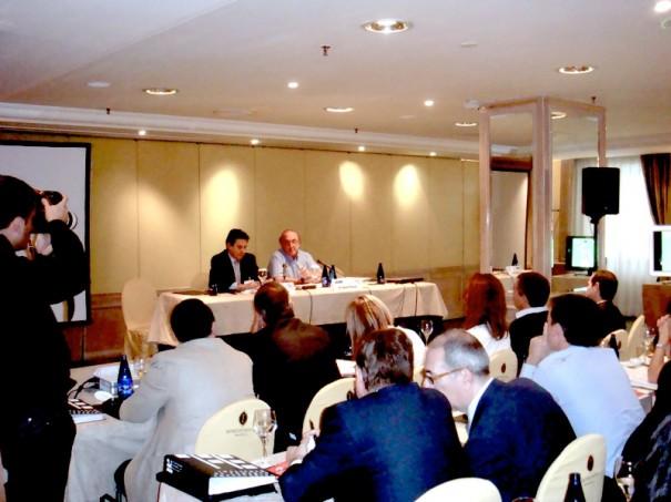 Eladio Gutiérrez y Jaume Roures, presidentes de Impulsa TDT y Mediapro, respectivamente, durante la jornada organizada por IFE