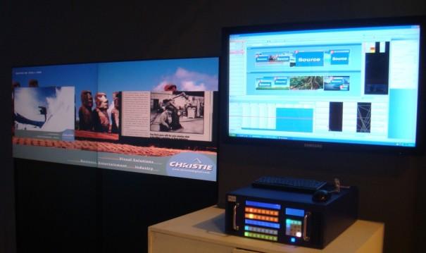 Entero LED en el stand de Charmex en Broadcast'09