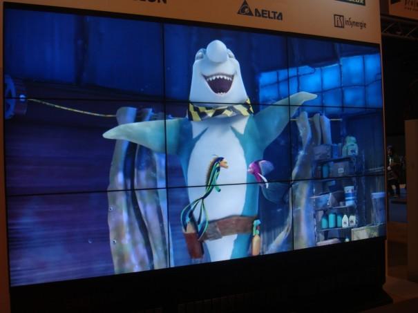 Videowall Samsung en el stand de Charmex en Broadcast'09