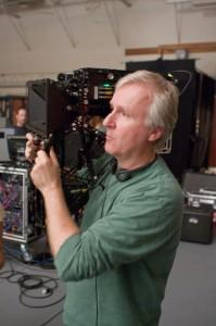 Cameron en el set de rodaje de Avatar