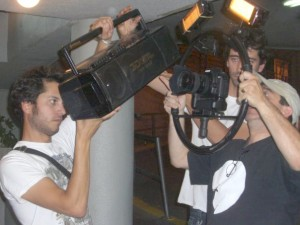 Rodaje con la Canon EOS 5D MKII del nuevo videoclip de Cycle (Foto: Grau Luminotecnia)