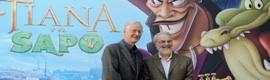 Los 'padres' de la Sirenita visitan Madrid para presentar 'Tiana y el Sapo'