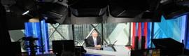 Los LED de Gekko iluminan los nuevos estudios de Sky News con fondo acristalado