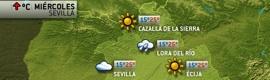 Información meteorológica en Giralda Televisión con e-Meteo