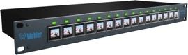 Wholer lanza un selector con 16 señales visualizadas en botones OLED