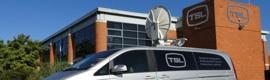 Nueva móvil de Vsat con la última tecnología de enlace ascendente basada en IP