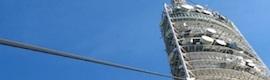 ADBL renueva parte de los paneles radiantes en Torre Collserola