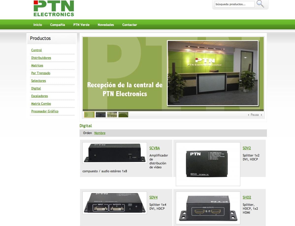 PTN Electronics estrena web en España