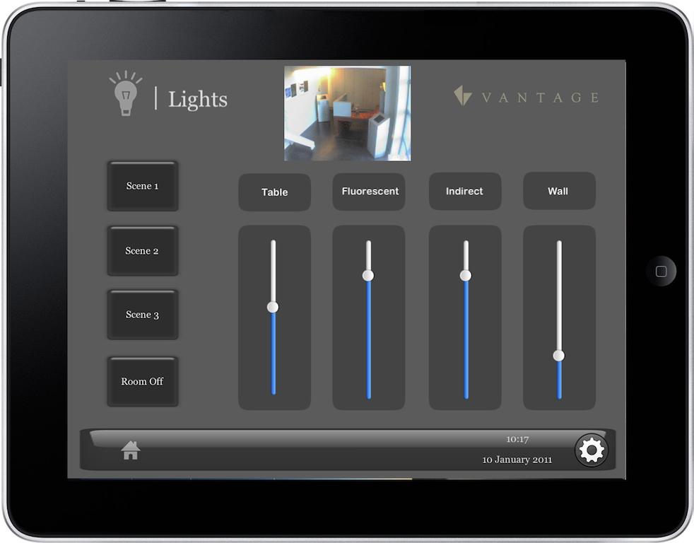 Acceso m vil multidispositivo desde ipad con vantage for Control de iluminacion domotica