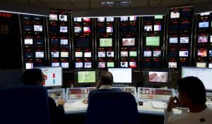 Control central de informativos en TVE (Foto: A Nevado)