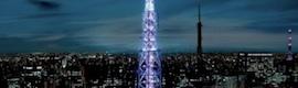 Espectacular iluminación de la torre de comunicaciones de São Paulo
