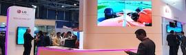 "LG muestra en Total Media un monitor LED de 47"" que permite configuraciones de hasta 225 pantallas"