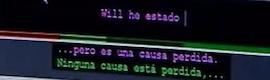 Nuevo sistema de subtitulado automático en tiempo real de programas de televisión