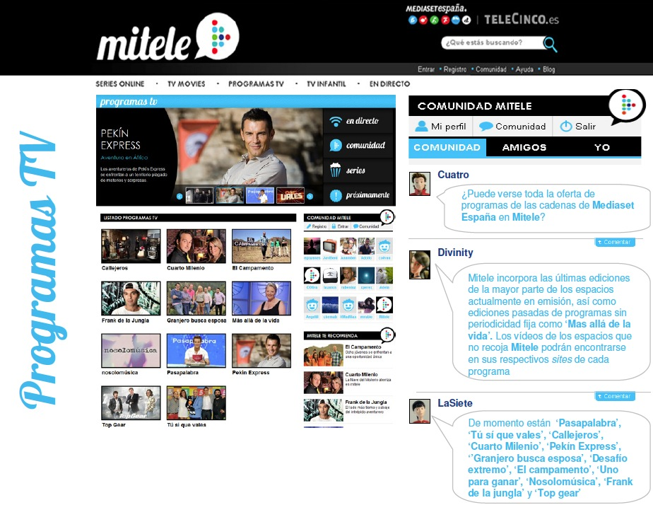 Mitele: Mediaset España concentra en un único portal su oferta de ...