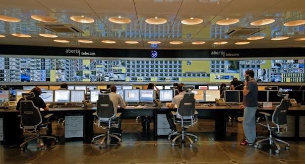 Sala de control de Abertis Telecom