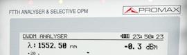 Analizador de espectros óptico (OSA) para el medidor de FTTH Promax Prolite 77