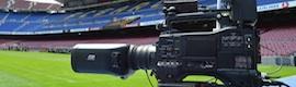 La cámara AG-3DP1, titular en el Camp Nou