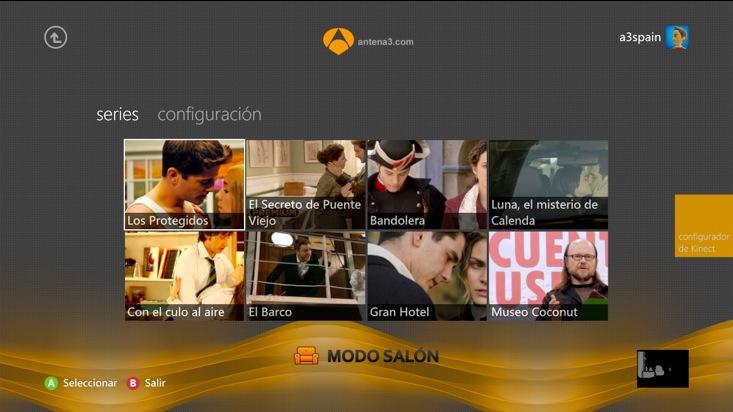 Antena 3 estrena una aplicación en Xbox Live que ofrecerá