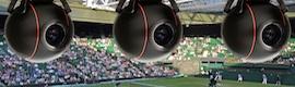 Las cámaras remotas Q-Ball siguen a los comentaristas en Wimbledon