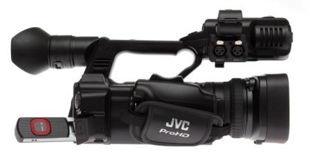 JVC GY-HM650 con módem LTE