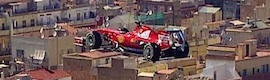 "Media Sports Marketing ""vuela"" un monoplaza Ferrari sobre Barcelona para un spot"