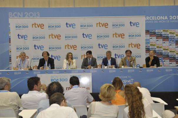 Presentación de los Mundiales de Natación FINA 2013 (Foto: TVE)