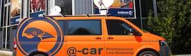 """Riedel equipa las comunicaciones y distribución de señal de la innovadora móvil """"@-car"""" de Nobeo"""