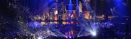 Gran despliegue de escenografía basada en vídeo e iluminación en la gala MTV EMA 2013