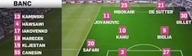wTVision proporciona cobertura de datos y gráficos en tiempo real a numerosas ligas de fútbol