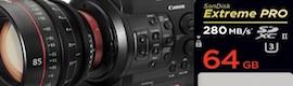 Sandisk lanzará una tarjeta de memoria para grabar en 4K