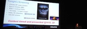 El alto brillo del 6P láser de Christie y el sonido inmersivo de Dolby sacan a los simios de la gran pantalla en IBC 2014
