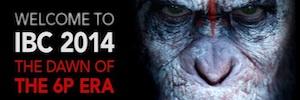 Los simios, en proyección láser 6 P 3D 14 fL, invaden IBC de la mano de Christie y Dolby