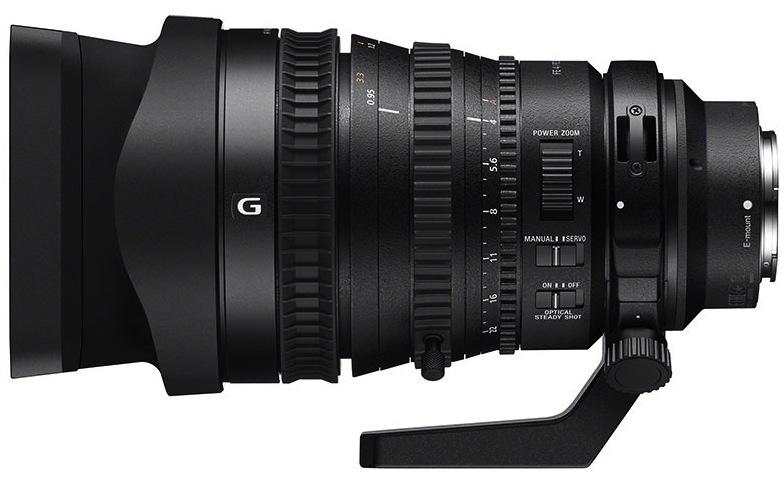 Primer objetivo de fotograma completo de 35 mm con zoom motorizado