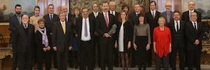 Los Reyes reciben a la Junta Directiva de la Academia de Cine