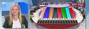 ANT1 Group se apoyó en Orad para el grafismo de la noche electoral en Grecia