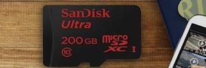 SanDisk lanza una tarjeta microSD de 200 Gb