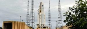 El satélite para televisión más potente construido nunca en Europa ya está en el espacio