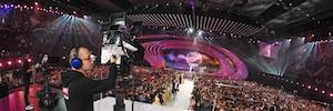 Gran despliegue técnico para una realización mediocre de ORF en Eurovisión