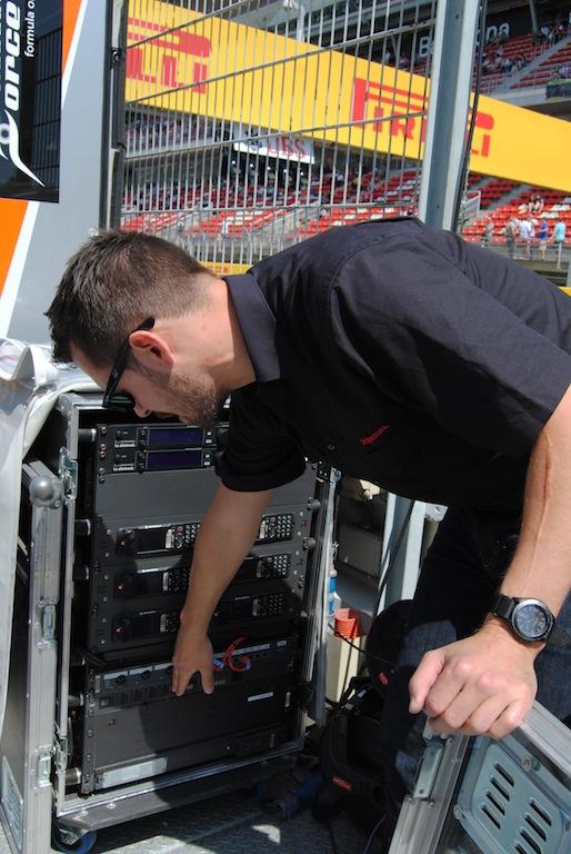 Mateo Giusti, de Riedel, en la Fórmula 1