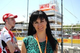 Maribel Román, de Riedel, en la Fórmula 1