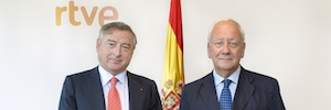 El presidente de RTVE, José Antonio Sánchez, recibe al secretario general de COPEAM, Pier Luigi Malesani