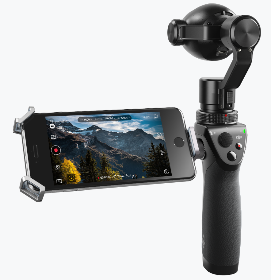 Osmo DJI Target Integraun With His Portable Camera