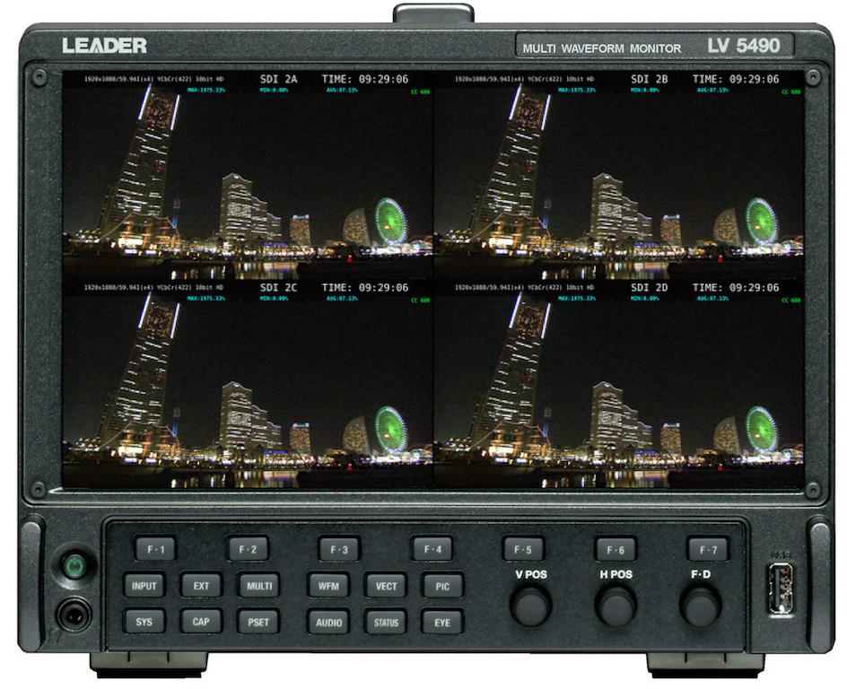 Leader introduce mejoras en su monitor de onda LV5490 4K