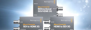 Los nuevos Micro Converter 3G de Blackmagic permiten conectar equipos HDMI a sistemas SDI