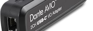 Audinate Dante AVIO USB-C: un adaptador que permite desde cualquier dispositivo vía USB conectarse a una red Dante